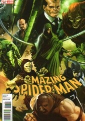 Okładka książki Amazing Spider-Man Vol 1 # 647: Brand New Day, Another Door Adam Archer, Paul Azaceta, Max Fiumara, Bob Gale, Marc Guggenheim, Joe Kelly, Karl Kesel, Ken Niimura, Graham Nolan, Dan Slott, Fred Van Lente, Mark Waid, Zeb Wells, Michael del Mundo