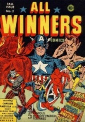 Okładka książki All-Winners Comics #2 Carl Burgos, Bill Everett, Paul Gustavson, Jack Kirby, Stan Lee, Joe Simon