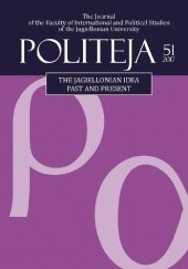 Okładka książki Politeja. Vol. 51. The Jagiellonian Idea: Past and Present Monika Banaś, Clarinda Calma, Zoltan Gal, Mindaugas Jurkynas, Jan Kieniewicz, Paweł Kowal, Hanna Kowalska-Stus, Hubert Królikowski, Dorota Pietrzyk-Reeves, Christopher Reeves, Andrea Schmidt, Wojciech Łysek
