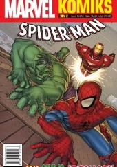 Okładka książki Marvel Komiks 2/2019 Spider-man Manuel Garcia, Scott Koblish, Alvin Lee, Matteo Lolli, Jeff Parker, Paul Tobin